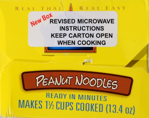 Taste of Thai Peanut Noodle Quick Meal Perspective: top