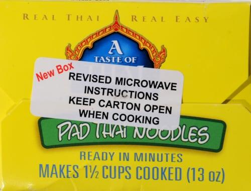 Taste of Thai Pad Thai Noodles Perspective: top