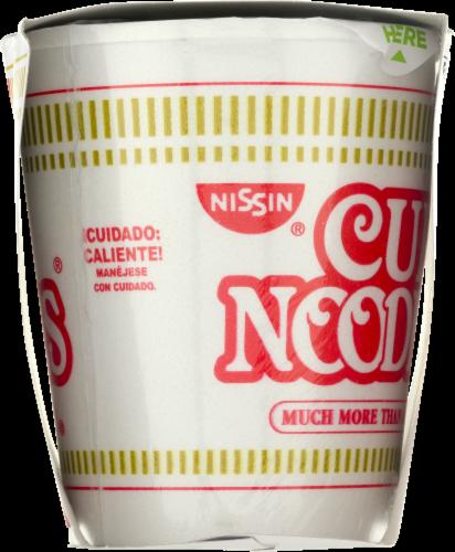Nissin Cup Noodles Spicy Lime Shrimp Flavor Ramen Noodle Soup Perspective: top