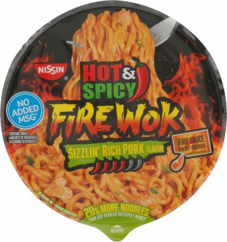 Nissin Hot & Spicy Fire Wok Sizzlin' Rich Pork Stir Fry Perspective: top