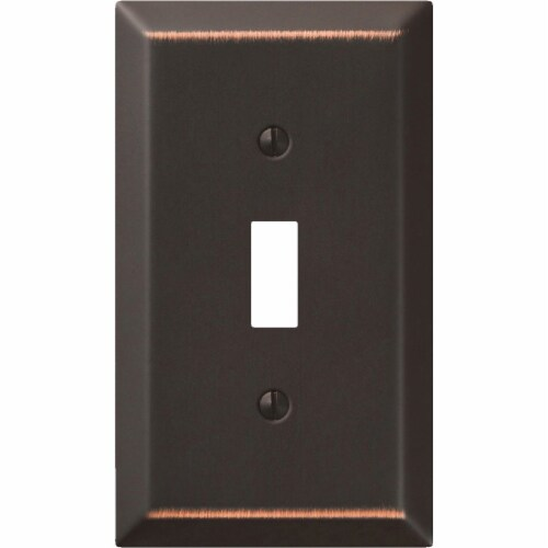Amerelle® Toggle Aged Bronze Light Switch Cover Perspective: top