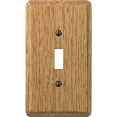 AmerTac Amerelle® Oakwood Light Switch Cover Wallplate Perspective: top