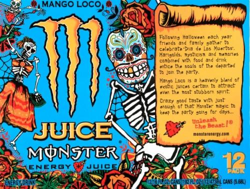 Monster Juice Mango Loco Energy Juice Perspective: top