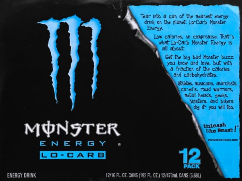 Monster Lo-Carb Energy Drink Perspective: top