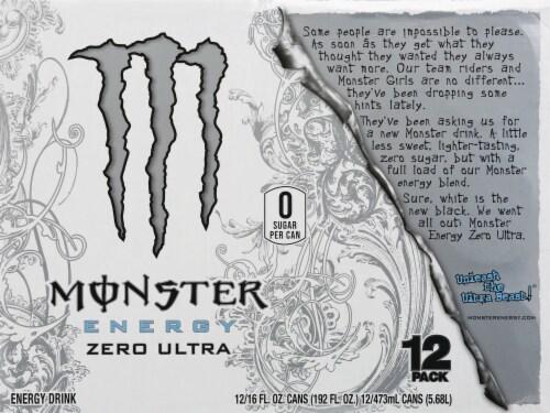 Monster Zero Ultra Energy Drink Perspective: top