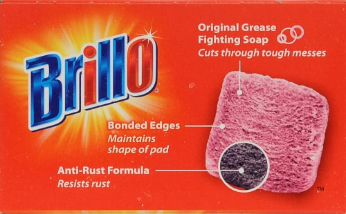 Brillo Steel Wool Soap Pads Perspective: top