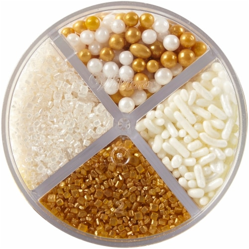 Wilton Sprinkles Gold Mix Perspective: top