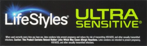 LifeStyles Ultra Sensitive Lubricated Condoms Perspective: top