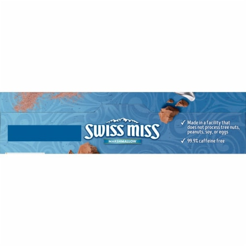 Swiss Miss Marshmallow Hot Cocoa Mix 8 Count Perspective: top