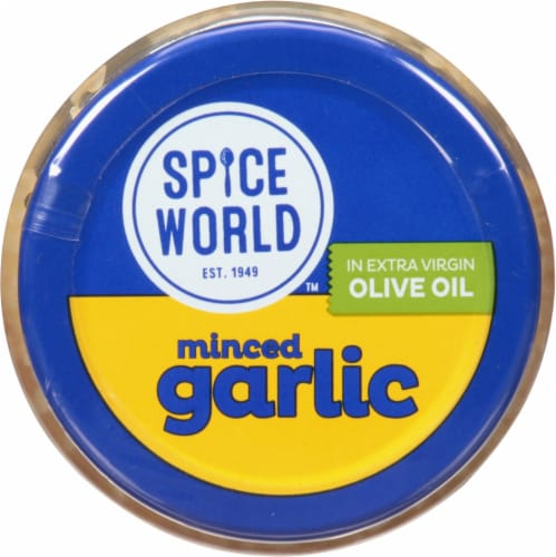 Spice World Minced Garlic in Extra Virgin Olive Oil Perspective: top