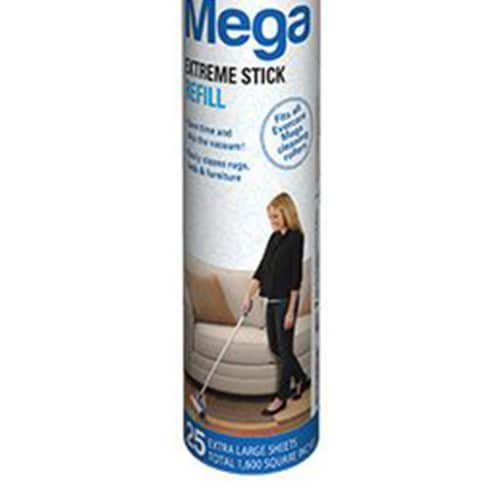 evercare Pet Mega Extreme Surface Coverage 50 Layer Lint Roller Refill, 6 Pack Perspective: top