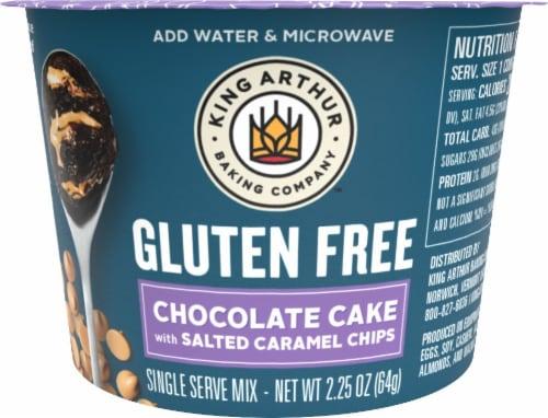 King Arthur Flour Gluten Free Single Serve Salted Caramel Chocolate Cake Perspective: top