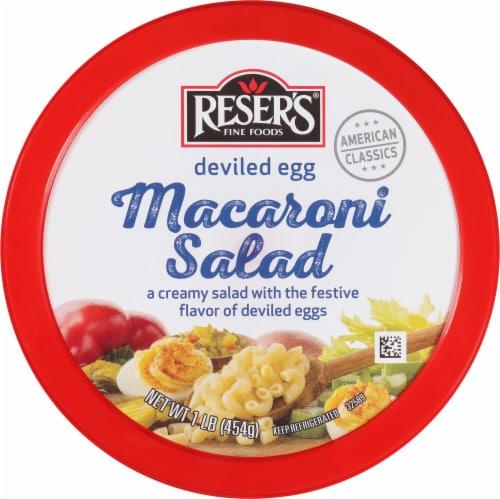 Reser's Deviled Egg Macaroni Salad Perspective: top