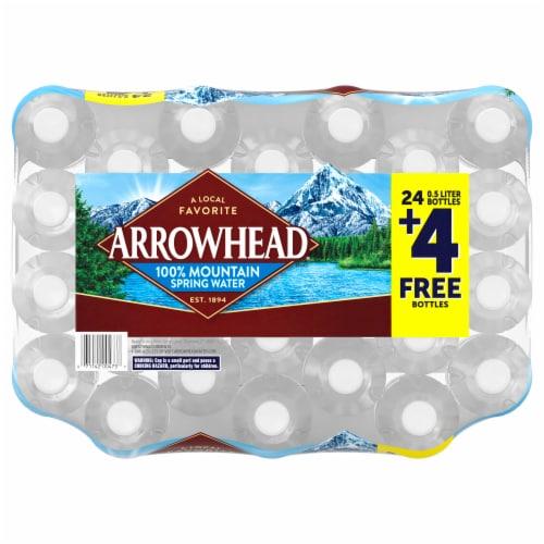 Arrowhead 100% Mountain Spring Water Perspective: top