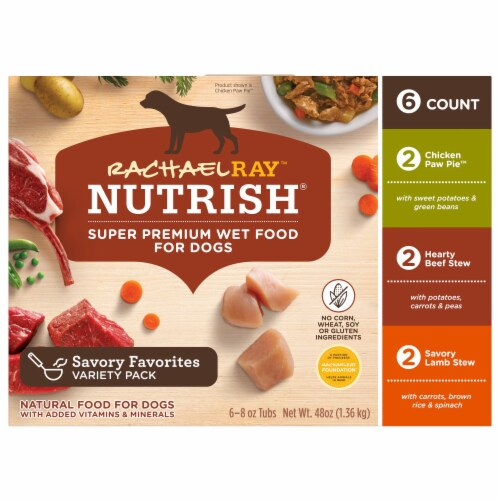 Rachael Ray Nutrish Natural Healthy Recipes Wet Dog Food Variety Pack Perspective: top