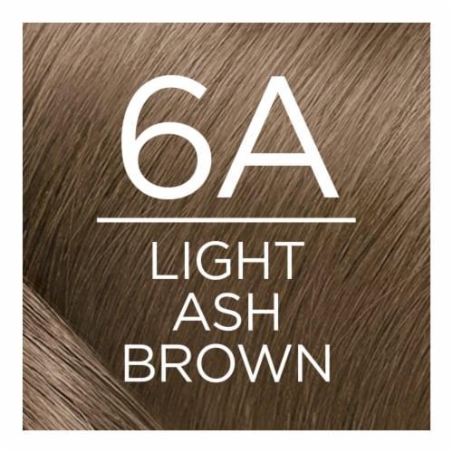 L'Oreal Paris Excellence Creme 6A Light Ash Brown Hair Color Kit Perspective: top