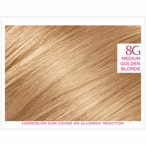 L'Oreal® Paris Excellence® Creme 8G Medium Golden Blonde Permanent Hair Color Perspective: top