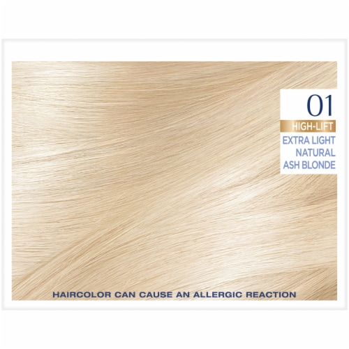 L'Oreal Paris Excellence Creme 01 High-Lift Extra Light Natural Ash Blonde Hair Color Kit Perspective: top