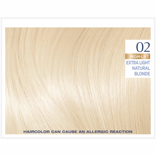 L'Oreal Paris Excellence Creme 02 High-Lift Extra Light Natural Blonde Hair Color Kit Perspective: top