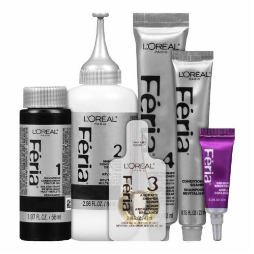 L'Oreal Paris Feria Permanent Hair Color Kit - Starry Night Bright Black 21 Perspective: top