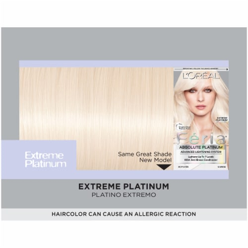 L'Oreal Feria Absolute Platinums Extreme Platinum Hair Color Kit Perspective: top