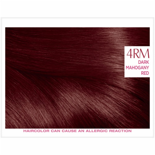 L'Oreal Paris Excellence Creme 4RM Dark Mahogany Red Hair Color Kit Perspective: top