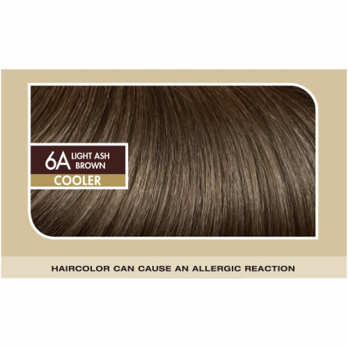 L'Oreal Paris Superior Preference Fade-Defying Shine Permanent Hair Color 6A Light Ash Brown Perspective: top