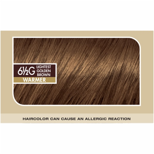 L'Oreal Paris Superior Preference Lightest Golden Brown 6.5G Hair Color Perspective: top