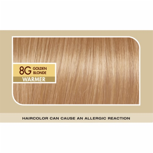 L'Oreal Paris Superior Preference Permanent Hair Color Kit - Golden Blonde 8G Perspective: top