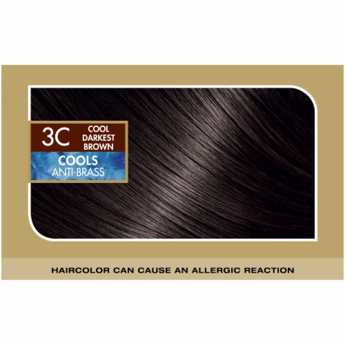 L'Oreal Paris Superior Preference Cool Darkest Brown 3C Hair Color Perspective: top