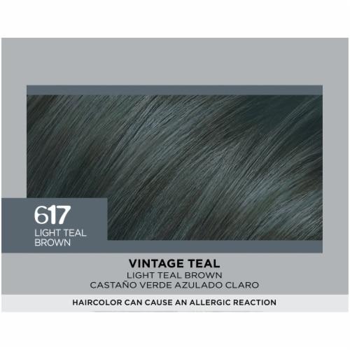L'Oreal Paris Feria 617 Vintage Teal Hair Color Perspective: top