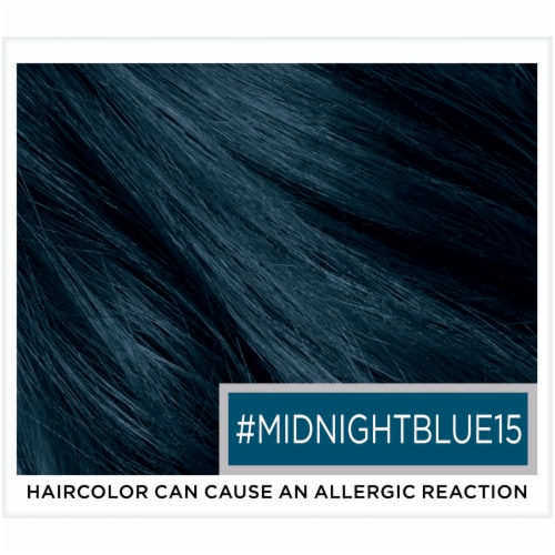 L'Oreal Paris Colorista Midnight Blue 15 Semi-Permanent Hair Color Perspective: top