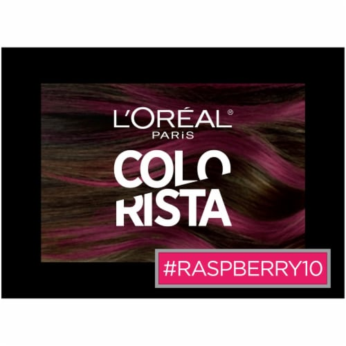L'Oreal Paris Colorista 1-Day Raspberry 10 Hair Color Perspective: top