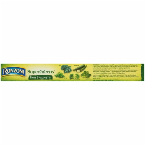 Ronzoni SuperGreens Thin Spaghetti Pasta Perspective: top