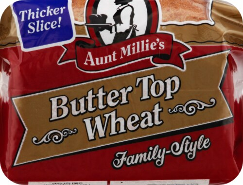 Aunt Millie's Butter Top Wheat Bread Perspective: top