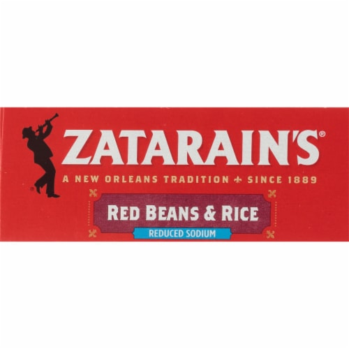 Zatarain's Reduced Sodium Red Beans & Rice Perspective: top