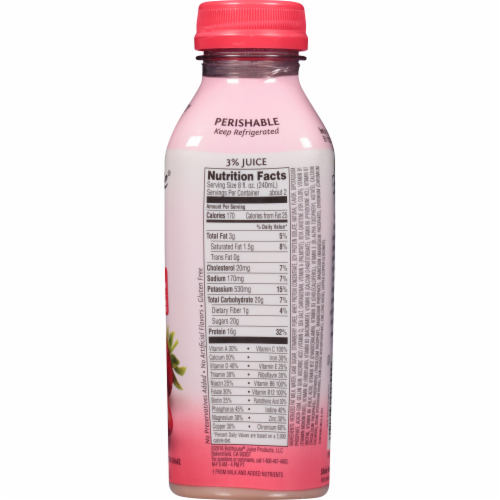 Bolthouse Farms Strawberry Protein Plus Shake Perspective: top