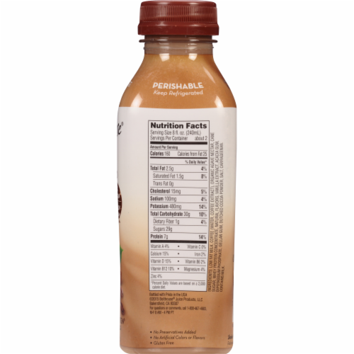 Bolthouse Farms Mocha Cappucino Protein Coffee Beverage Perspective: top