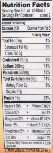 Bolthouse Farms Mango Protein Plus Shake Perspective: top