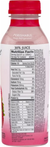 Bolthouse Farms Strawberry Parfait Breakfast Protein Smoothie Perspective: top
