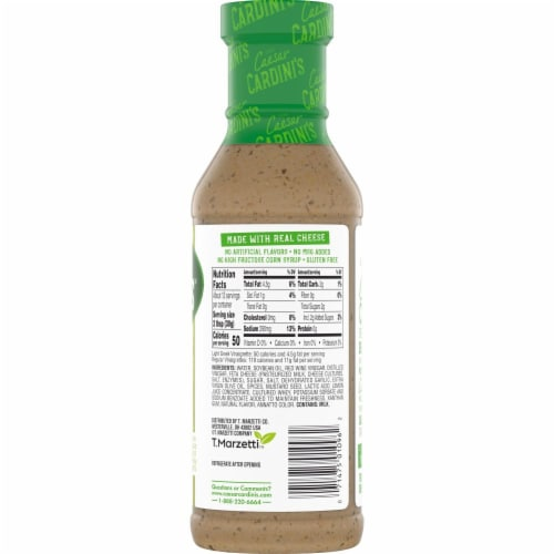 Cardini's Light Greek Vinaigrette Salad Dressing Perspective: top