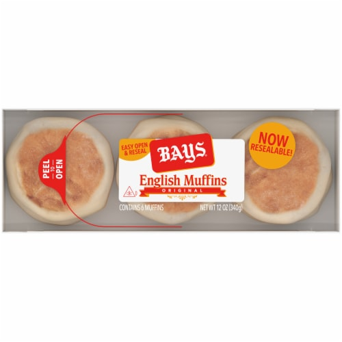 Bays Original English Muffins Perspective: top