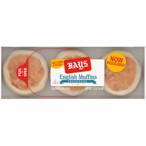 Bays Sourdough English Muffins Perspective: top