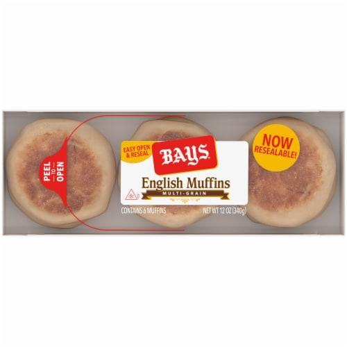 Bays Multi-Grain English Muffins Perspective: top