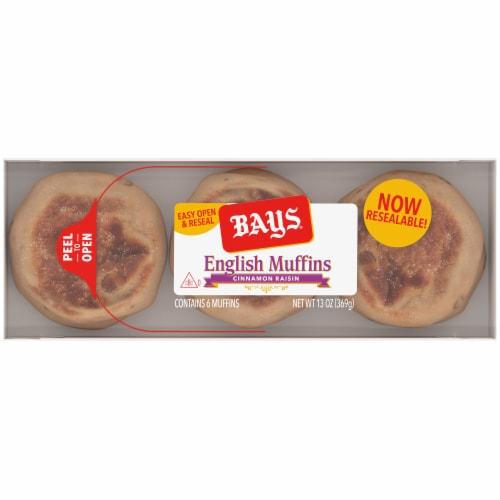 Bays Cinnamon Raisin English Muffins Perspective: top