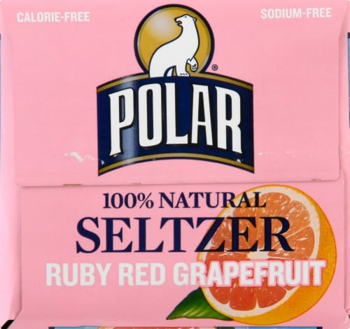 Polar Ruby Red Grapefruit Seltzer Perspective: top