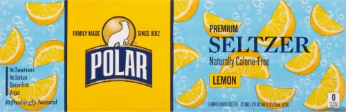 Polar Seltzer Lemon Sparkling Water Perspective: top