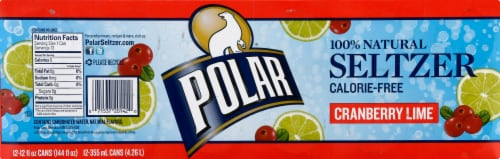 Polar Cranberry Lime Seltzer Perspective: top