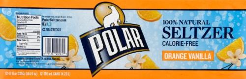Polar Orange Vanilla Seltzer Water Perspective: top