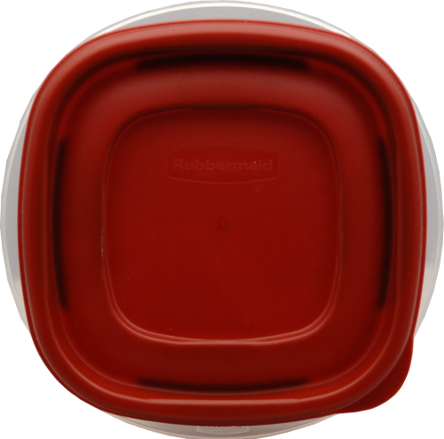Rubbermaid Easy-Find Lids Two-Cup Food Storage Container Perspective: top